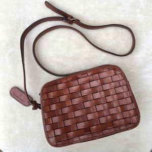 *Vintage* Etienne Aigner Woven Leather Crossbody